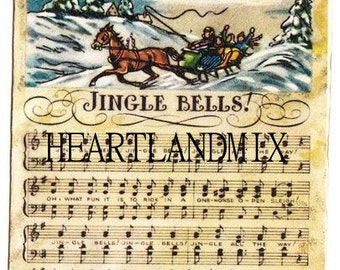 Jingle Bells Sheet Music Vintage Christmas Image