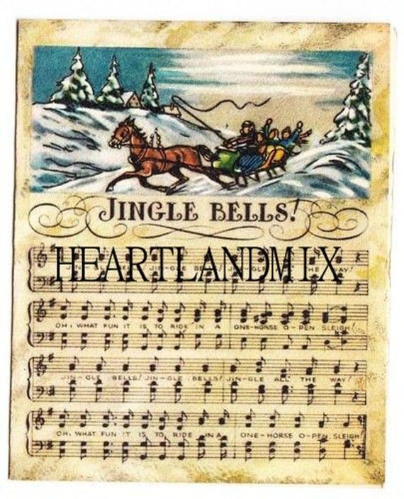 jingle bells sheet music vintage christmas image. Black Bedroom Furniture Sets. Home Design Ideas