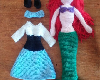 Crochet Ariel, The Little Mermaid Crochet Pattern, Mermaid Crochet Pattern, Hand Designed by Dueamici