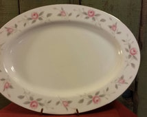 Vintage Nasco Japan Fine China Platter in Plymouth Rose Pattern