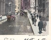 New-York vintage postcard. General Post Office.  Vintage city-post card.