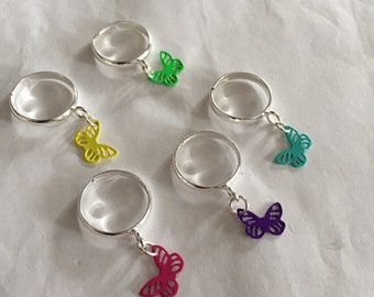 More Adjustable Rings with Charms!