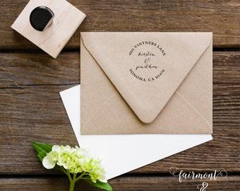 Return Address Stamp, Address Stamp, Personalized Stamp, Wedding Stamp, Custom Address Stamp, Rubber Address Stamp, Calligraphy Stamp