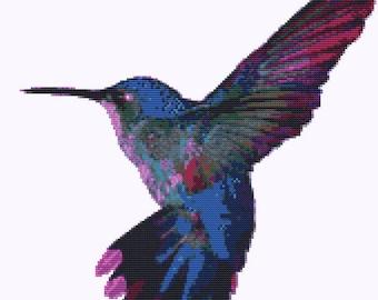 CROSS STITCH KIT- Hummingbird 29cm x 29cm