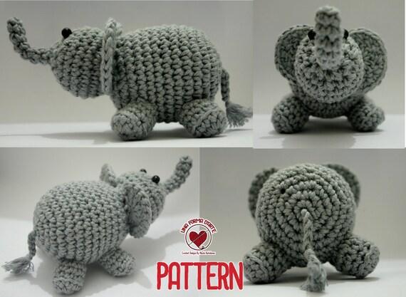 Uncinetto Amigurumi Elefante : Crochet Pattern Amigurumi Elefantino schema uncinetto