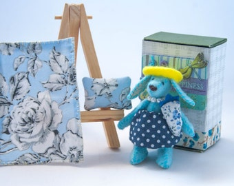 Miniature Matchbox Bunny- Fancy Bunny Collection