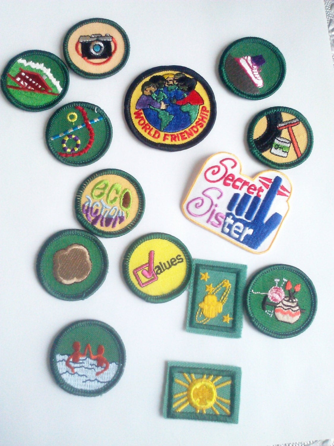 Lot Of 14 Girl Scout Patches Assorted Lot Iron On Or Sew