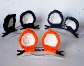 Cat Ear Hair Clips - Hair Accessories - Crochet Hair Clips - Crochet Cat Ears - Cosplay Cat Ears - Costume Cat Ears - Handmade Hairclips