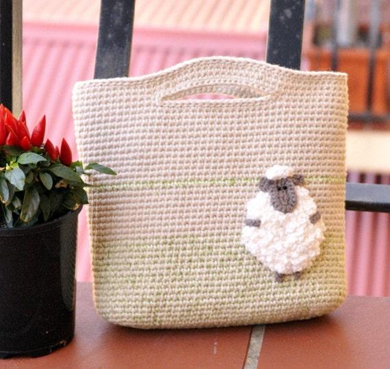 Crochet Bag For Little Girl : Bag for little princess PDF crochet pattern girl bag by GoBunnyGo