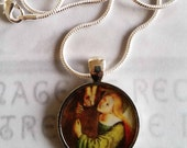 """Apostle Pendant - Saint Mary Magdalene with 20"""" Sterling Silver Chain - 28mm"""