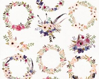 Watercolour Tribe&Flower DIY pack+Bonus