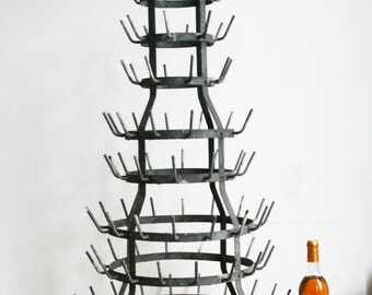 Large French Bottle Drying Rack French Country Decor