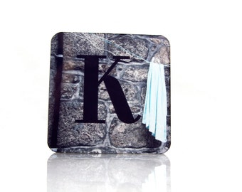 Letter Photography Coasters - Letter K, London Phonebox Cork Coasters - Wine Coasters, Coasters UK, Cool Coasters, Drink Coasters, Barware