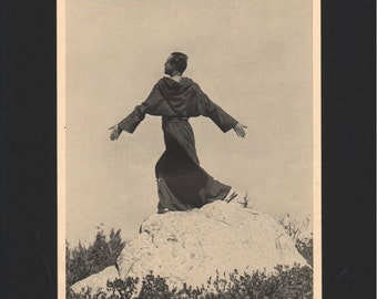 "Photograph from ""The Dance of Life"", 1930s, O Brother Sun and Sister Moon, St Francis, matted in black  - 000153M"