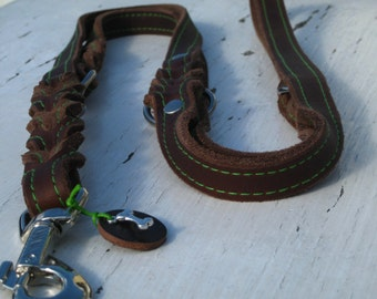 XXL fat leather leash