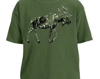 Moose Tribe youth garment dyed t-shirt