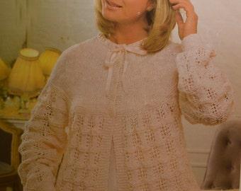 PDF womens bedjacket vintage knitting pattern bed jacket dressing jacket pdf INSTANT download 1970s