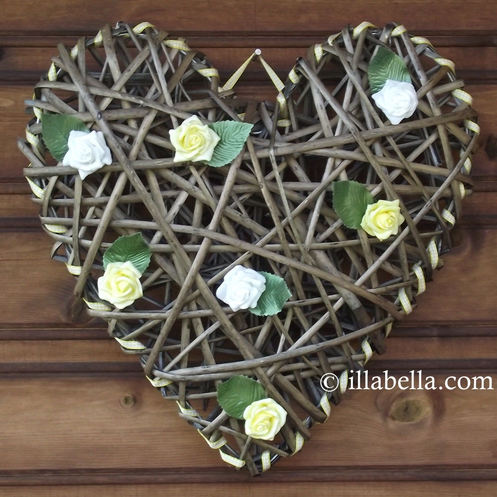 Large Wicker Heart Wedding Decor Wall Hanging By Illabella