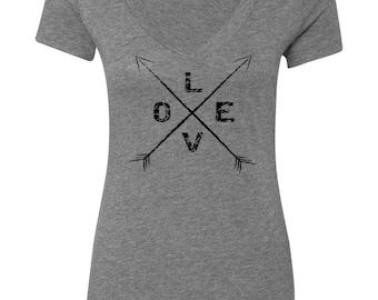 Love Arrows T-Shirt, mom tshirt, t shirts for women