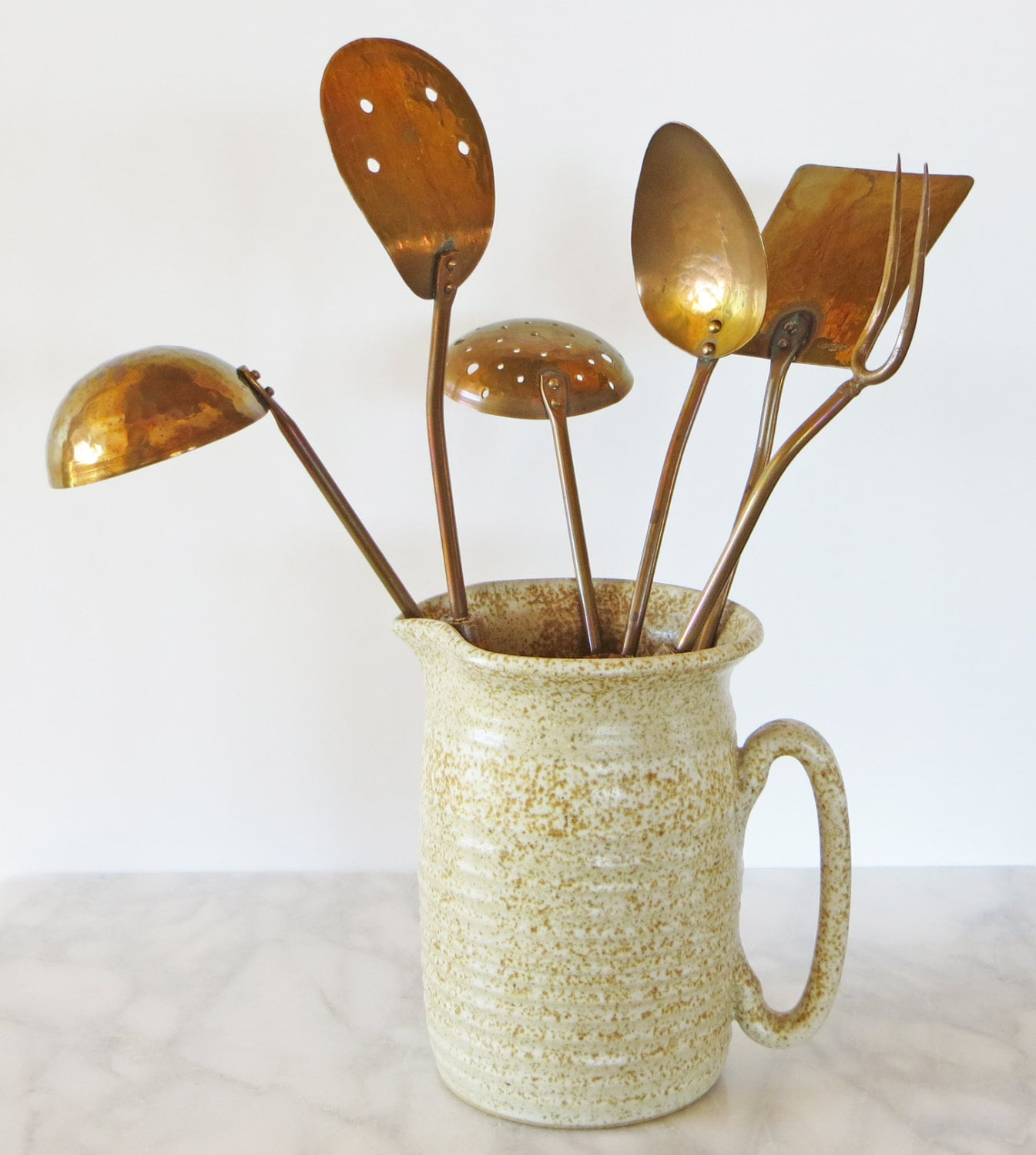 Reserved vintage copper utensil collection by - Utensilios de cocina vintage ...