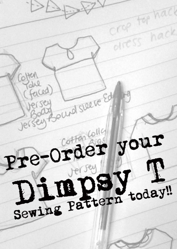 PDF Dimpsy T Sewing Pattern