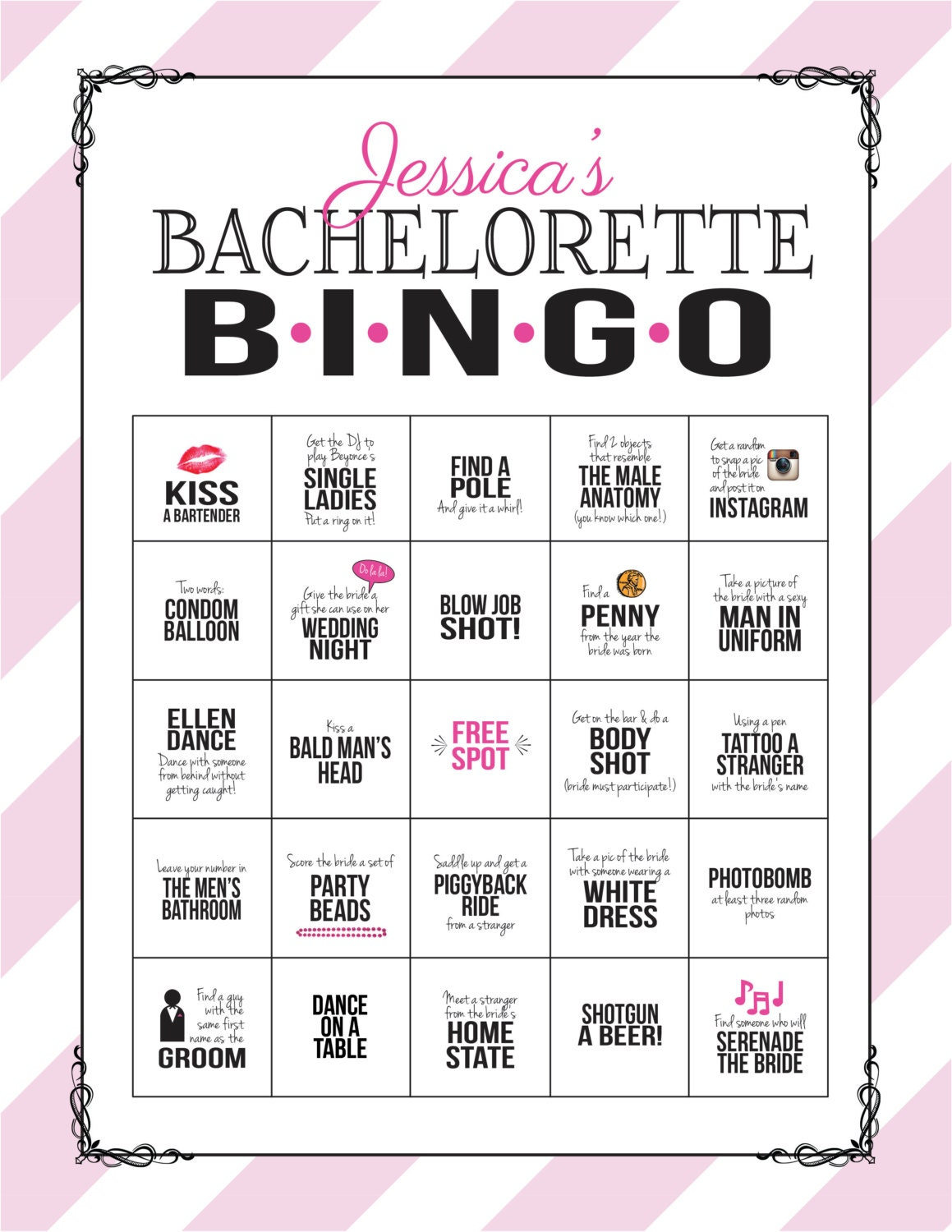 It is a picture of Magic Free Printable Bachelorette Party Games