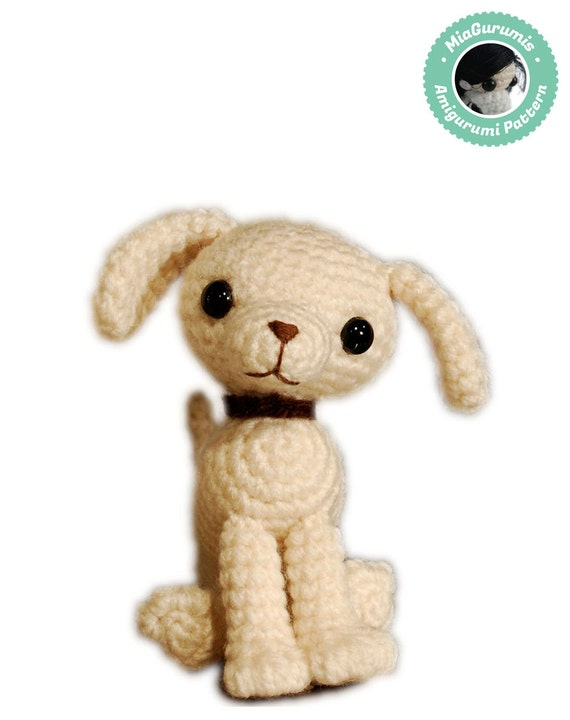 Crochet Pattern Tiny Dog Amigurumi Cute puppy toy