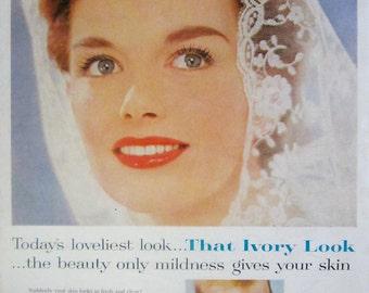 1959 Ivory Soap Vintage Advertisement Bathroom Wall Art Powder Room Decor Original Magazine Print Ad Paper Ephemera