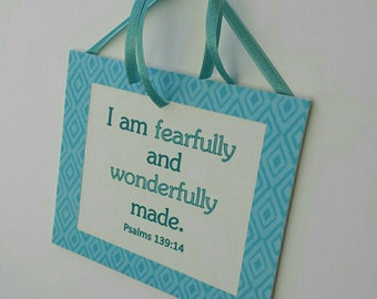 "Canvas Art - Scripture Canvas -  Scripture Art - ""Fearfully and Wonderful Made"""