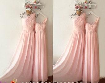 Pink chiffon dress | Etsy