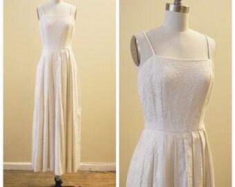 Vintage Bridal Floral Brocade Fall/Winter Wedding dress