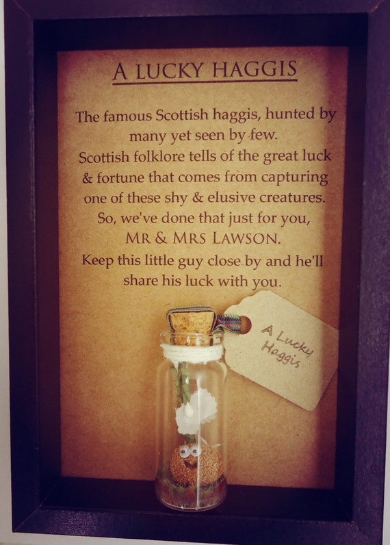 Scottish Wedding Gift A Lucky Haggis Lucky By Undertheblossomtree