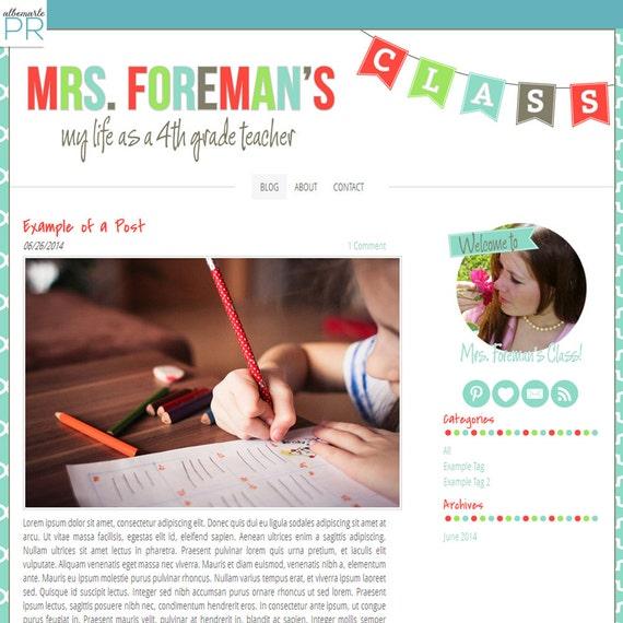 premade weebly template teacher blog classroom by albemarlepr. Black Bedroom Furniture Sets. Home Design Ideas