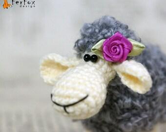 Crochet sheep, stuffed sheep, amigurumi lamb, crochet softie, crochet animal - Molly the Sheep