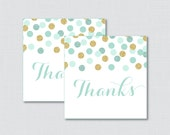 Printable Mint and Gold B...