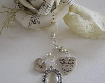 Memorial Photo Bouquet Charm-Various Colours and Relations Available