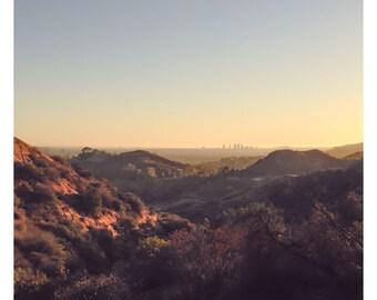 Hollywood Hills, Los Angeles Print, Los Angeles Cityscape, Los Angeles Art, California Print, Sunset Photography, City Print, Los Angeles