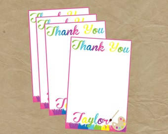 PAINT Party THANK YOU Notes