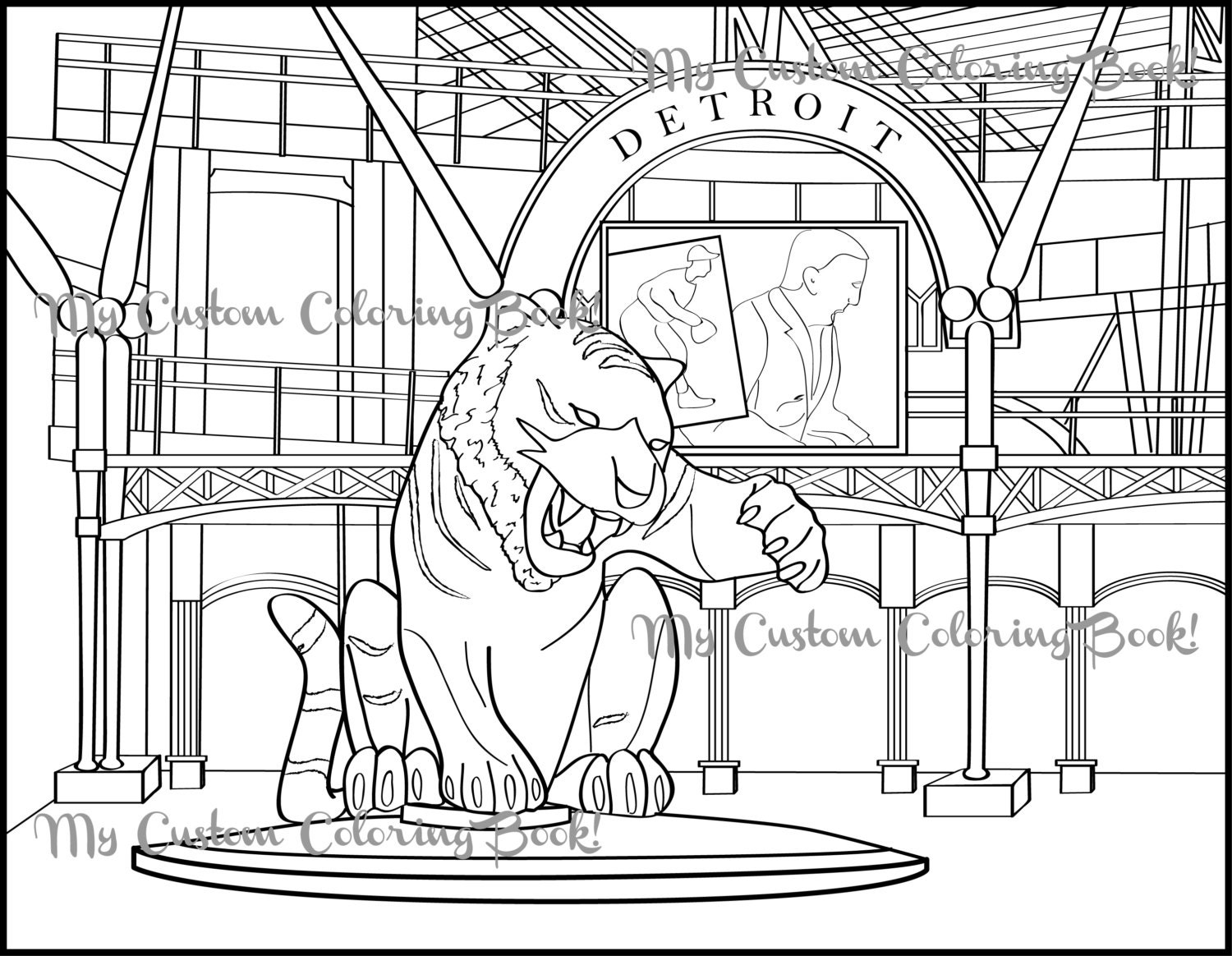 detroit tiger coloring pages - photo#7