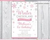 winter onederland / winter onederland party / winter onederland invitation / winter onederland invites / winter onederland birthday INSTANT