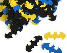 Batman confetti. Superheroes birthday party. Ready in 3-5 Weekdays. 100 CT.  Geekery. Comics. Boys Birthday ideas. Baby Shower Decorations