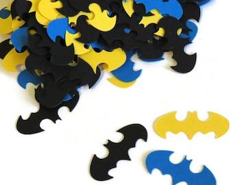Batman confetti, superheroes birthday party, 100 CT, logo, Geekery, Comics, Boys, Baby Shower Decorations, batman