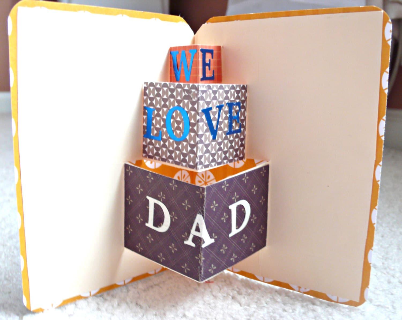Открытки летием, открытка папе на день рождения своими руками от дочки 3д