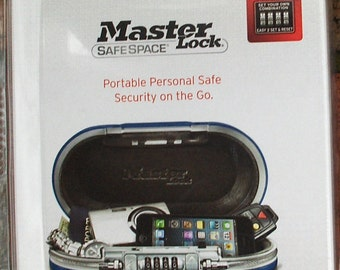 MASTER LOCK SafeSpace 5900 Set-Your-Own Combination Portable Safe in Red