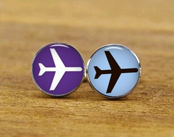 cufflinks, plane cufflinks,  aircraft cuff links, custom pilot gifts, custom wedding cufflinks, round square cufflinks, tie clip or set