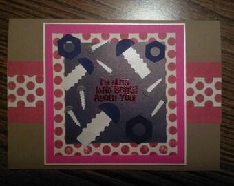 robot Valentine's day card
