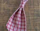 Dog Tie. Primitive Red Ch...