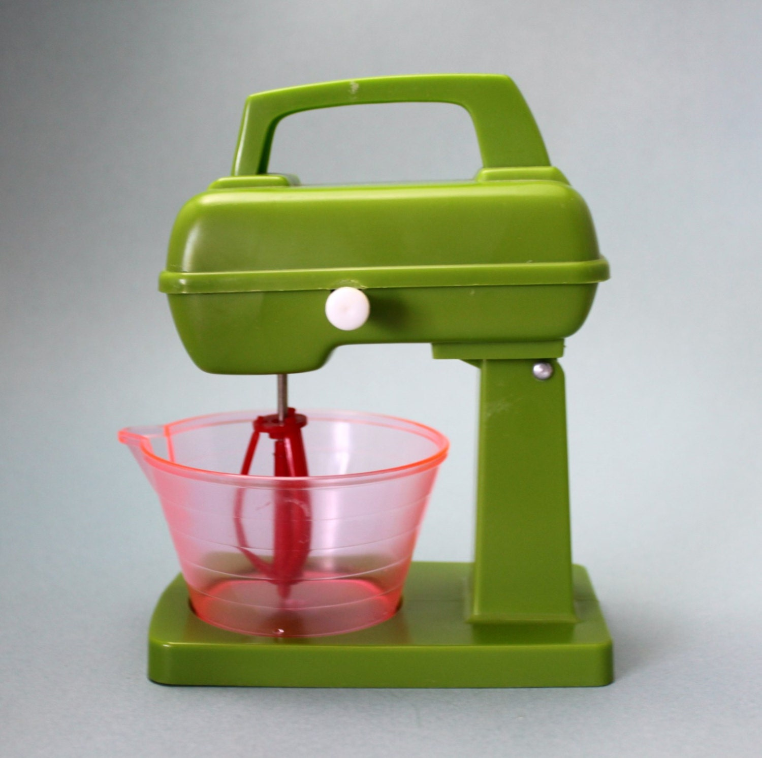 Vintage Miniature Plastic Toy Mixer And Bowl Stand Mixer
