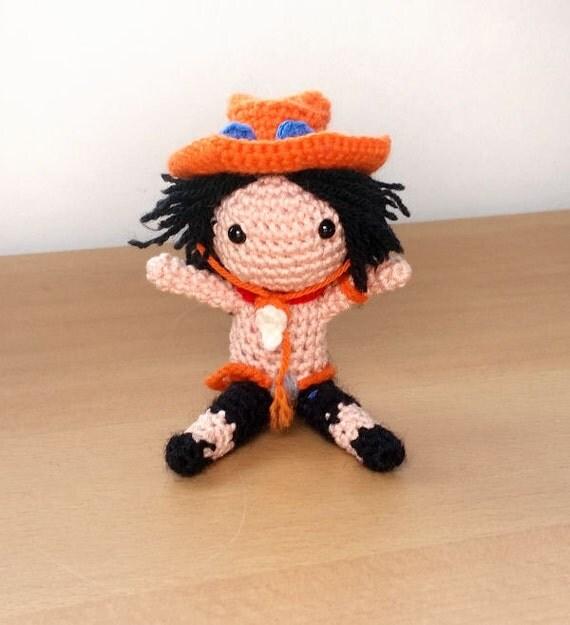 Amigurumi One Piece Doll : Ace One Piece Amigurumi doll
