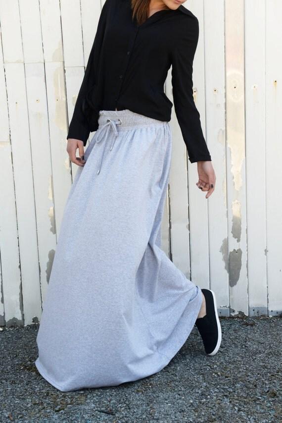 skirt maxi skirt grey skirt casual grey skirt